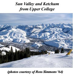 Sun Valley and Ketchum from Upper College Ski Run on Baldy Mountain . . .